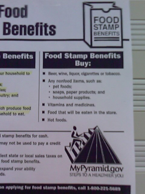 I didn't know food stamps could get me drunk!